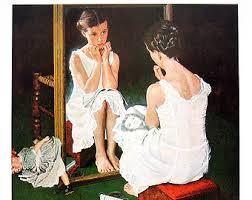 Norman Rockwell (1894-1978) Chica en espejo , 1954 Ilustración de la portada de The Saturday Evening Post (6 de marzo, 1954)